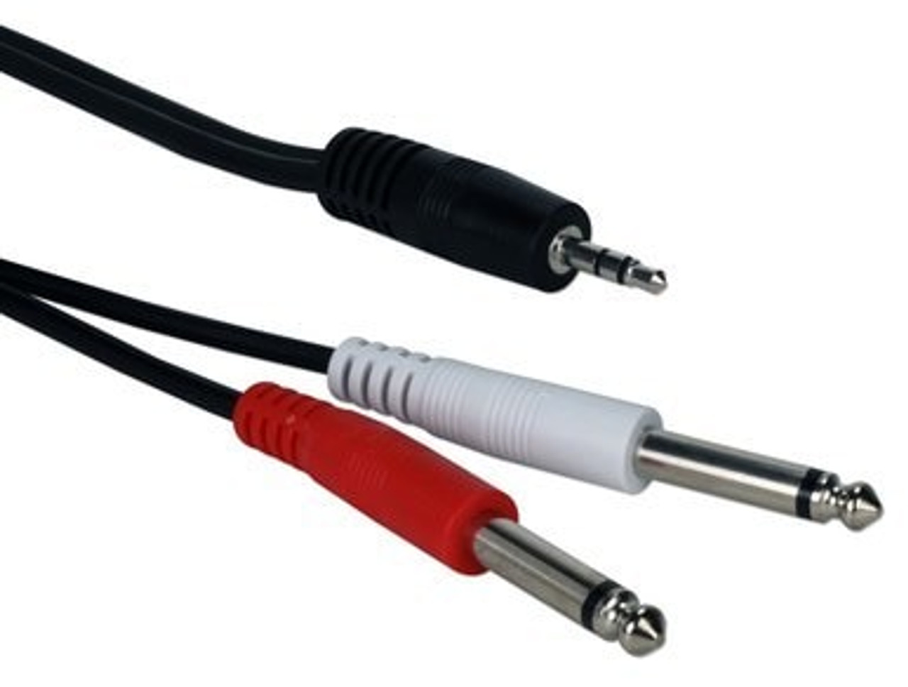 10 Ft 3.5mm Male to a Dual-1/4 Male Audio Y-Cable