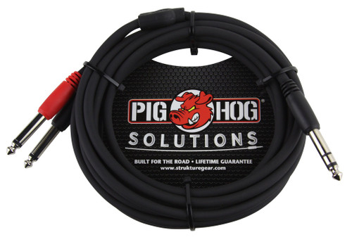 "10ft TRS(M)-Dual 1/4"" Insert Cable"