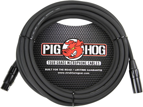 Pig Hog PHM25 25ft XLR 8mm Microphone Cable