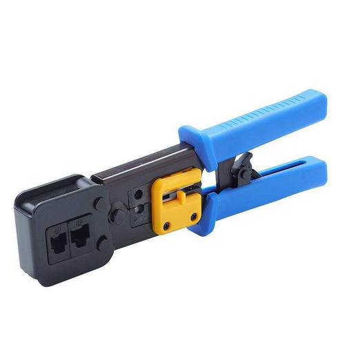 EZ-RJ45 Cat5e Cat6 Connector Crimping Tool End Pass Through Crimp Cutter