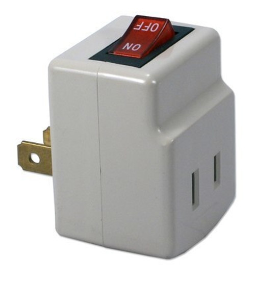 Single-Port Power Adapter with Lighted On/Off Switch
