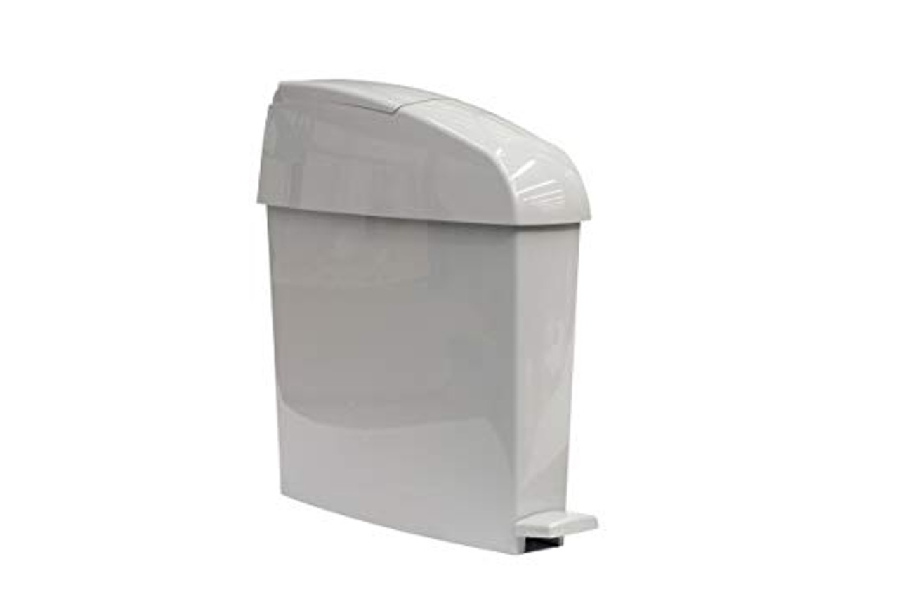 Rubbermaid Miniped 12L Capacity Bin Front Opening Pedal-Operated - Grey