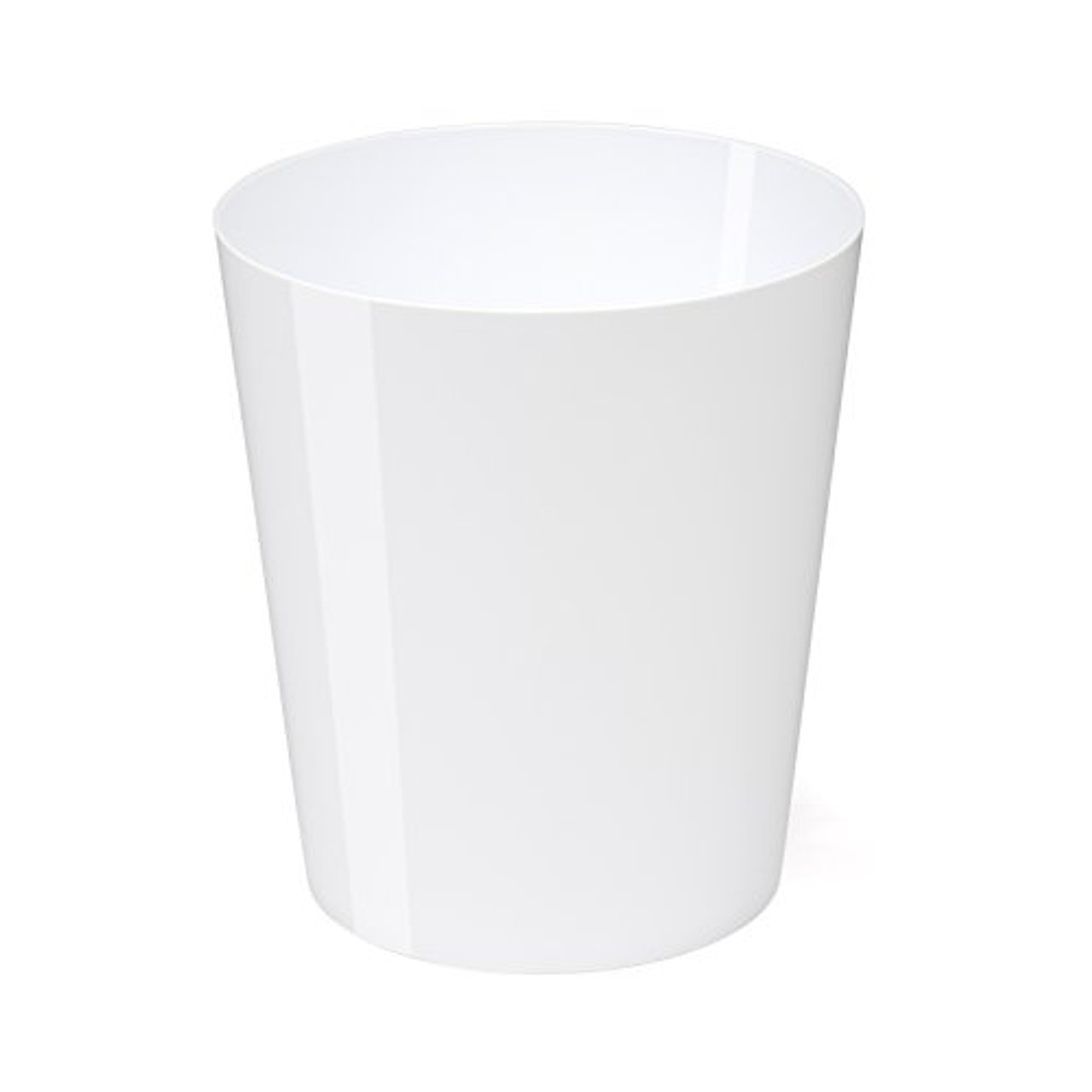 Osco High Gloss White Plastic 29cm Bin - 11.3L