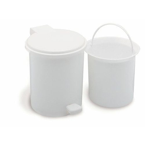 Addis Vanity Pedal Bin With Liner White