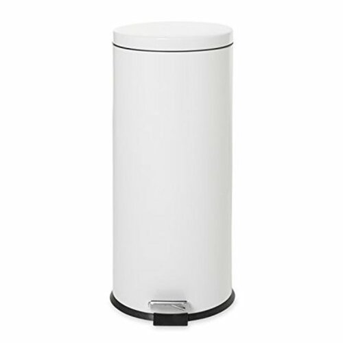 Rubbermaid Small Pedal Bin (With Galvanised Liner) 30.3 L - White