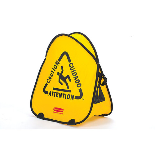 Rubbermaid Folding Safety Cone - Multilingual Caution Imprint