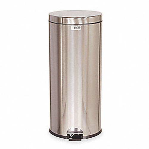 Rubbermaid Small Pedal Bin (With Galvanised Liner) 30.3 L - Silver
