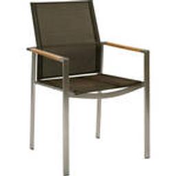 Teak armrest with Charcoal sling -- 1MEA.500