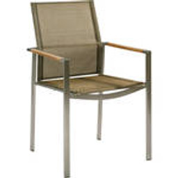 Teak armrest with Titanium sling -- 1MEA.502