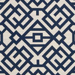 Grade D Sunbrella Lattice Indigo  (+$1080.00) -- 1456