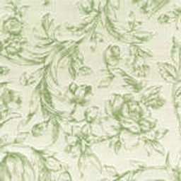 Grade C Sunbrella Toile White Meadow Flowers  (+$68.00) -- 1450