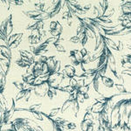 Grade C Sunbrella Toile White Denim Flowers  (+$560.00) -- 1452