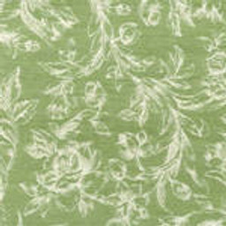 Grade C Sunbrella Toile Meadow White Flowers  (+$155.00) -- 1449