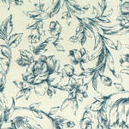 Grade C Sunbrella Toile White Denim Flowers  (+$155.00) -- 1452