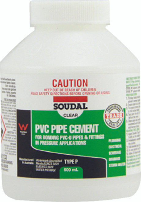 PVC Pipe Cement Type P Clear 500ml