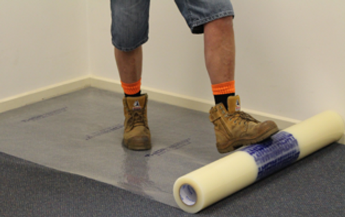 THOR Carpet Protection Reverse Wound 1000mm x 100m