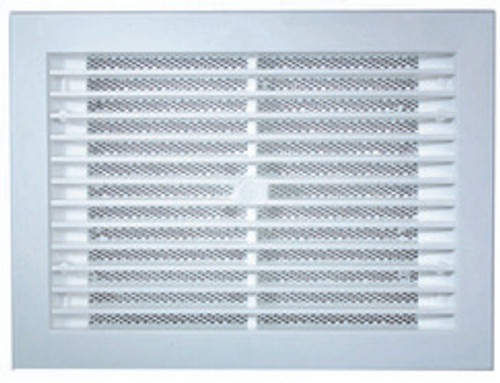 286X224MM WHITE WALL VENT - WITH BAFFLE