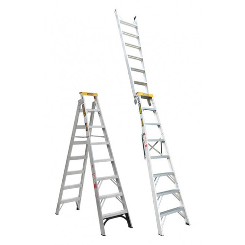 GORILLA DUAL PURP DBL SIDED LADDER 2.4-4.5MTR (8-15FT)-150KG