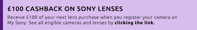 Sony Lens Cashback