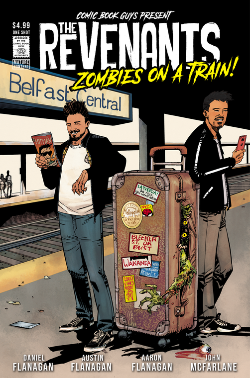 the revenants, zombies, train, comic book guys, daniel flanagan, john mcfarlane, john mccrea, jordie bellaire, glenn fabry, adam brown, aaron flanagan, austin flanagan, zombies, cosplay, horror, comic,