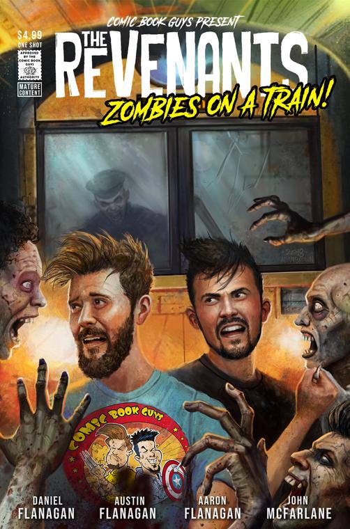 the revenants, zombies, train, comic book guys, daniel flanagan, john mcfarlane, john mccrea, jordie bellaire, glenn fabry, adam brown, aaron flanagan, austin flanagan, zombies, cosplay, horror, comic,