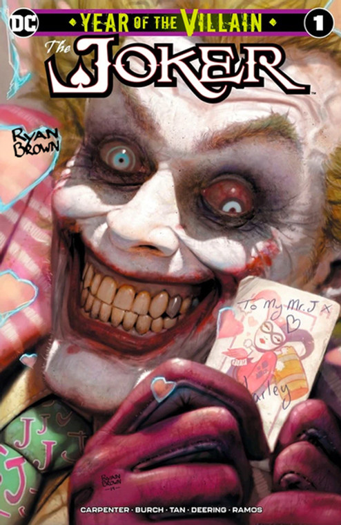 JOKER YEAR OF THE VILLAIN #1 RYAN BROWN UNKNOWN COMICS VARIANT SIGNED