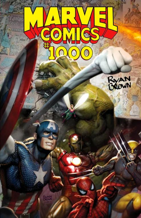 MARVEL COMICS #1000 RYAN BROWN COMICS ELITE VARIANT SIGNED