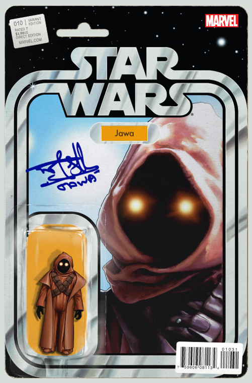 STAR WARS #10 CHRISTOPHER JAWA ACTION FIGURE VARIANT SIGNED