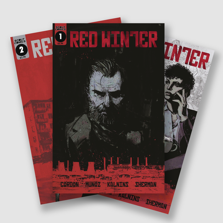 RED WINTER COMPLETE FOUR PART COMIC SET