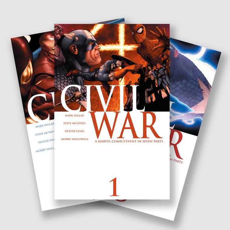 MARVEL CIVIL WAR COMPLETE SEVEN PART COMIC SET