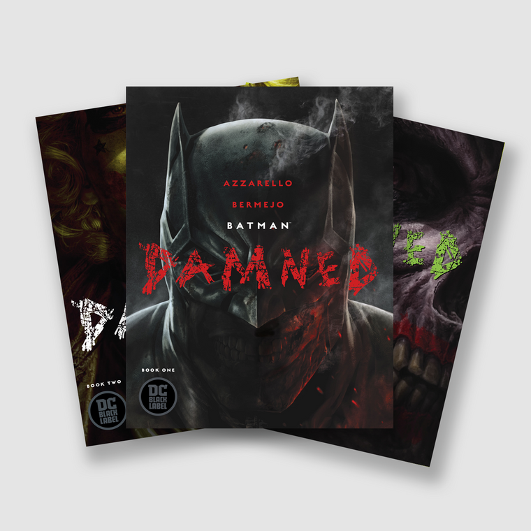 BATMAN DAMNED COMPLETE THREE PART COMIC SET COVER SET A