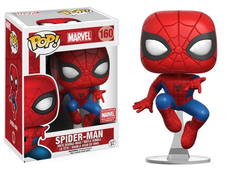 SPIDER-MAN MARVEL POP! VINYL FIGURE MARVEL COLLECTOR CORPS EXCLUSIVE 160