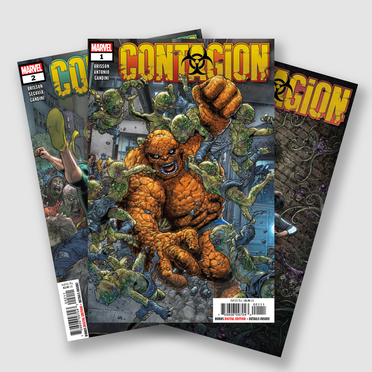 CONTAGION COMPLETE FIVE PART COMIC SET