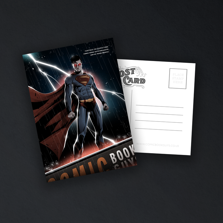 COMIC BOOK GUYS EXCLUSIVE FORTRESS OF COMICTUDE POSTCARD