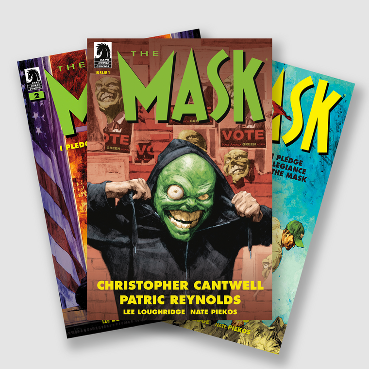THE MASK I PLEDGE ALLEGIANCE TO THE MASK COMPLETE FOUR PART COMIC SET