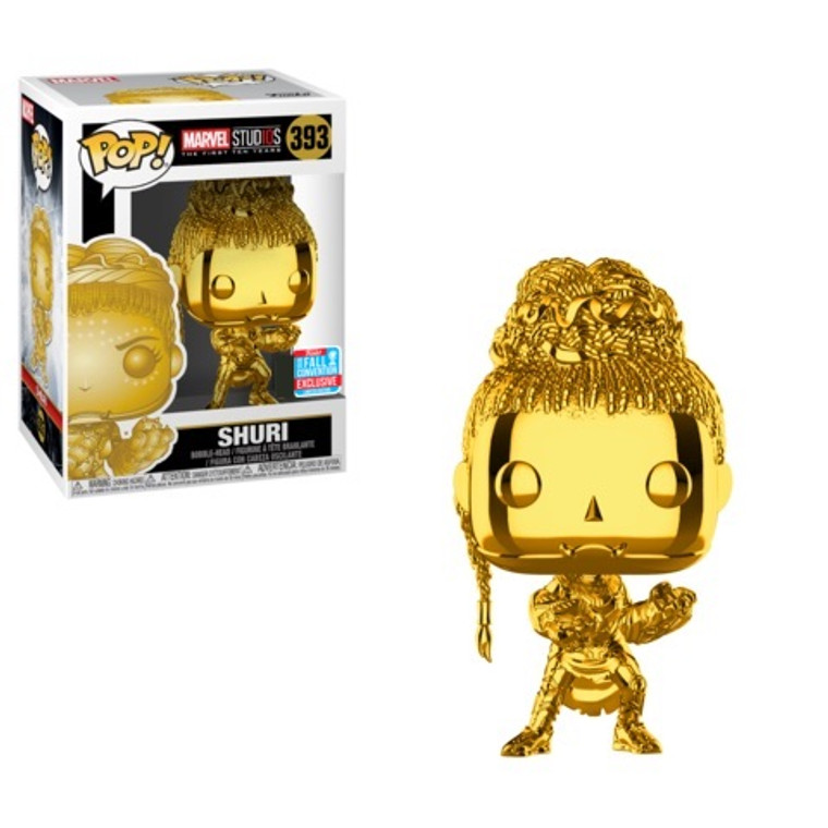 SHURI (GOLD CHROME) POP! VINYL FIGURE FALL CONVENTION 2018 EXCLUSIVE 393