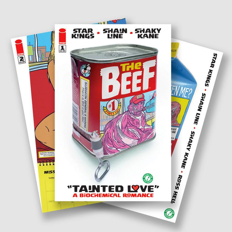 BEEF COMPLETE FIVE PART COMIC SET