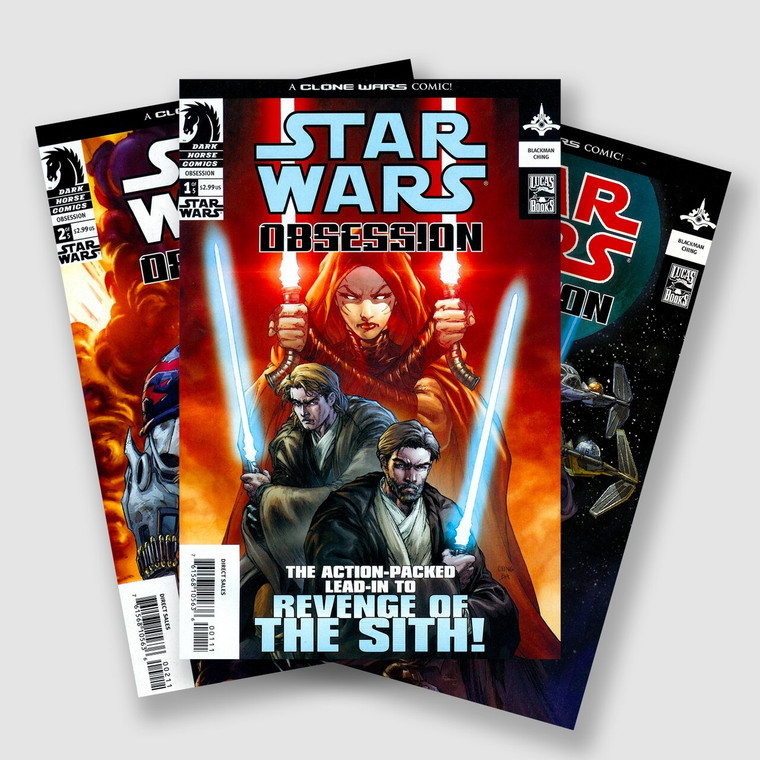 STAR WARS OBSESSION COMPLETE FIVE PART COMIC SET