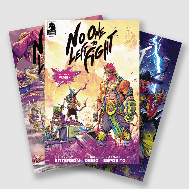 NO ONE LEFT TO FIGHT COMPLETE FIVE PART COMIC SET