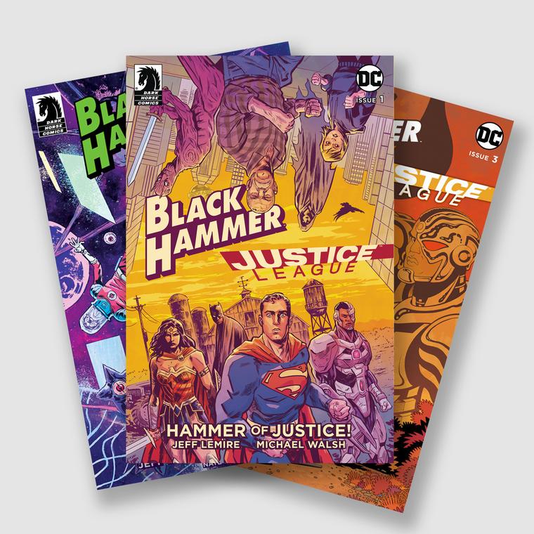 BLACK HAMMER JUSTICE LEAGUE HAMMER OF JUSTICE COMPLETE FIVE PART COMIC SET