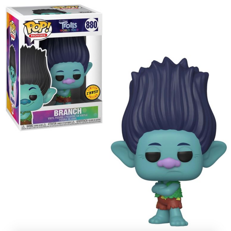 BRANCH TROLLS WORLD TOUR POP! VINYL FIGURE CHASE 880