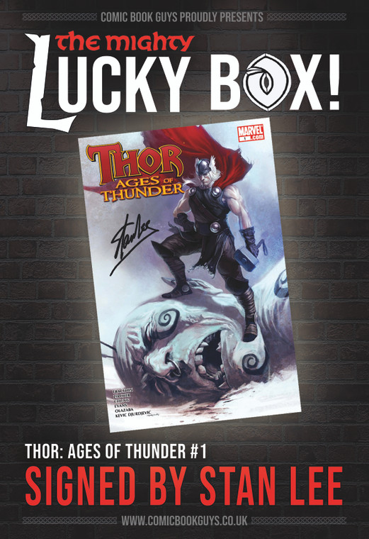 MIGHTY LUCKY BOX SIGNED STAN LEE THOR #1