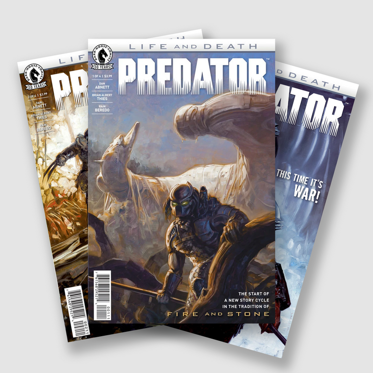 PREDATOR LIFE AND DEATH COMPLETE FOUR PART COMIC SET