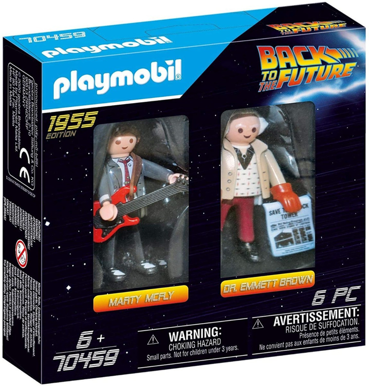 PLAYMOBIL BACK TO THE FUTURE - MARTY AND DOC BROWN FIGURE SET 1955 EDITION
