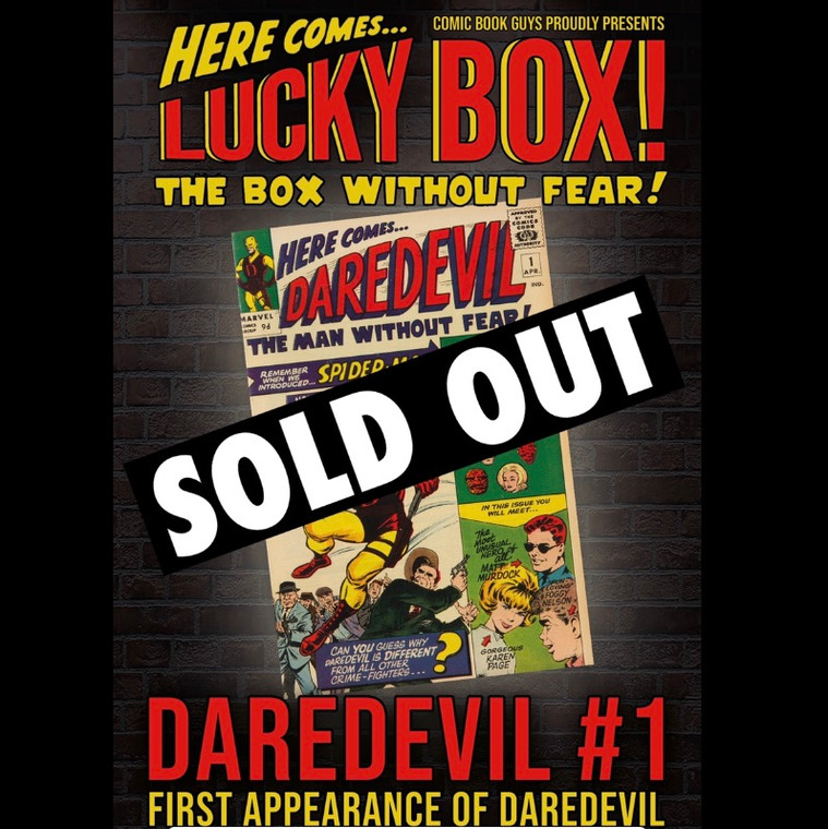 BOX WITHOUT FEAR DAREDEVIL FIRST APPEARANCE DAREDEVIL #1 (1964) LUCKY BOX