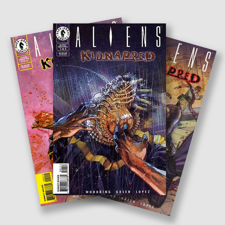 ALIENS KIDNAPPED COMPLETE THREE PART COMIC SET