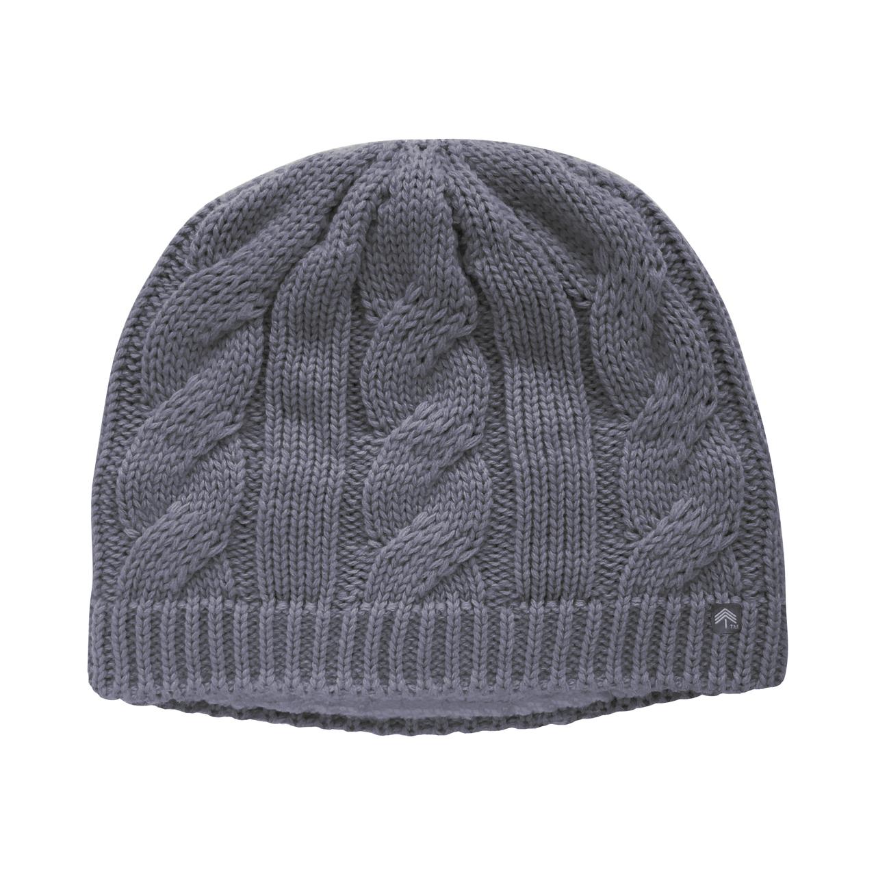 606723bc15c Winter (medium gray) - Classic Cable Ponytail Hat - Adult Misses ...