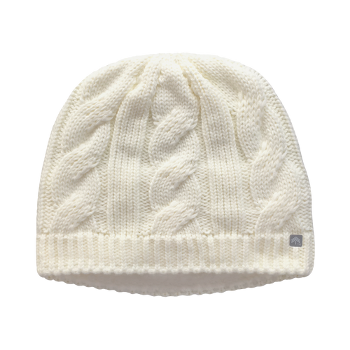 927fc6d7c63 Natural (ivory)- Classic Cable Ponytail Hat - Adult Misses