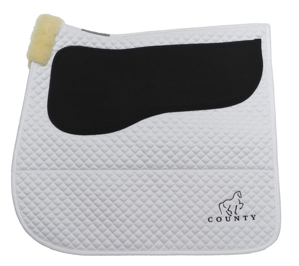 Equest Non-Slip Saddle Pads - White Dressage