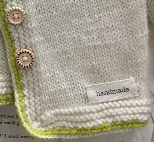 'handmade' sewn-in tag